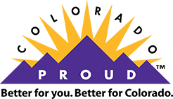 Colorado Proud logo. Better for you. Better for Colorado.